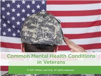 Common Mental Health Conditions in Veterans